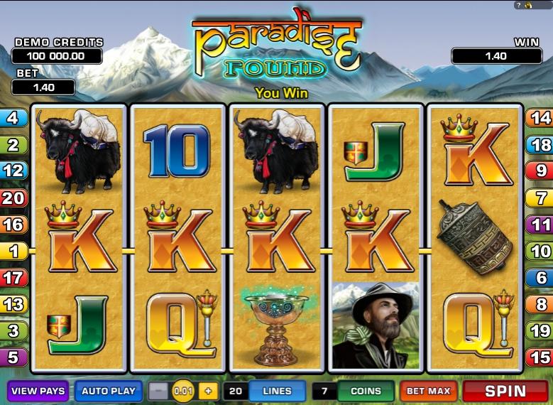 Игровой автомат Paradise Found